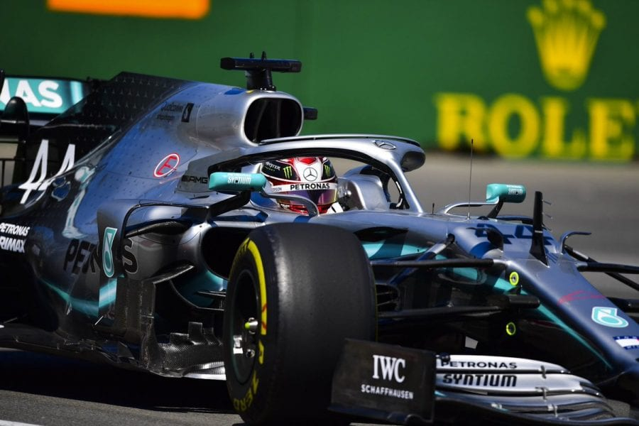 Hamilton, tras su accidente: