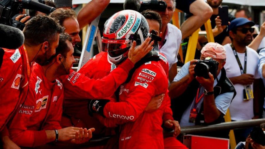 Leclerc hace podio en Francia y Vettel es 5º