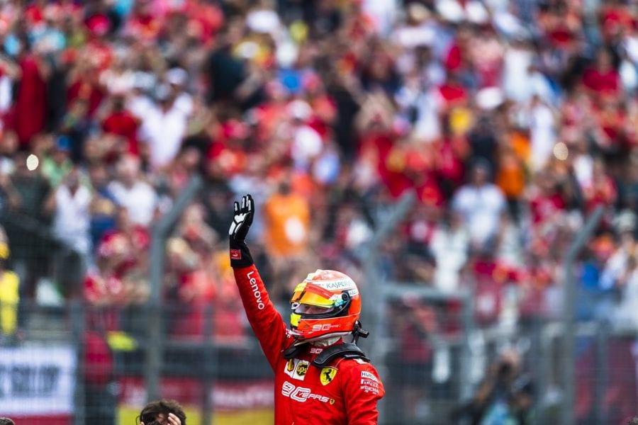 Vettel remonta hasta el segundo puesto; Leclerc abandona en Alemania