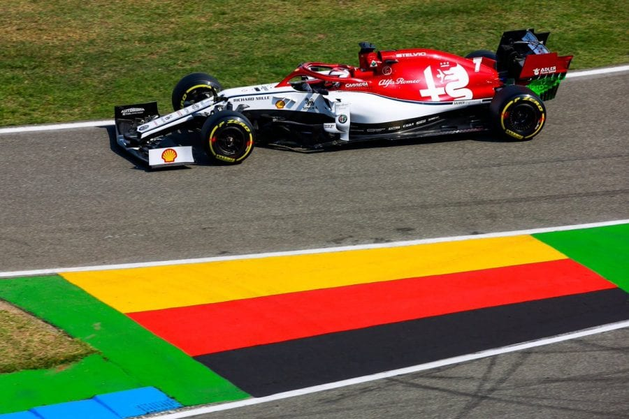 Räikkönen se cuela en el top 10 en Alemania