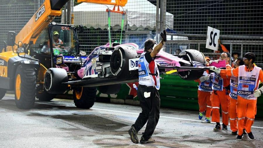 Racing Point se marcha de Singapur de vacío