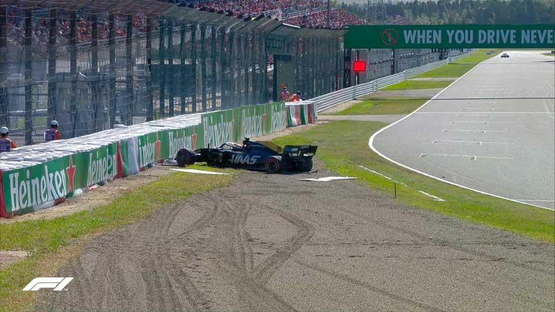 Haas fracasa y vuelve a protagonizar una de las rarezas del día