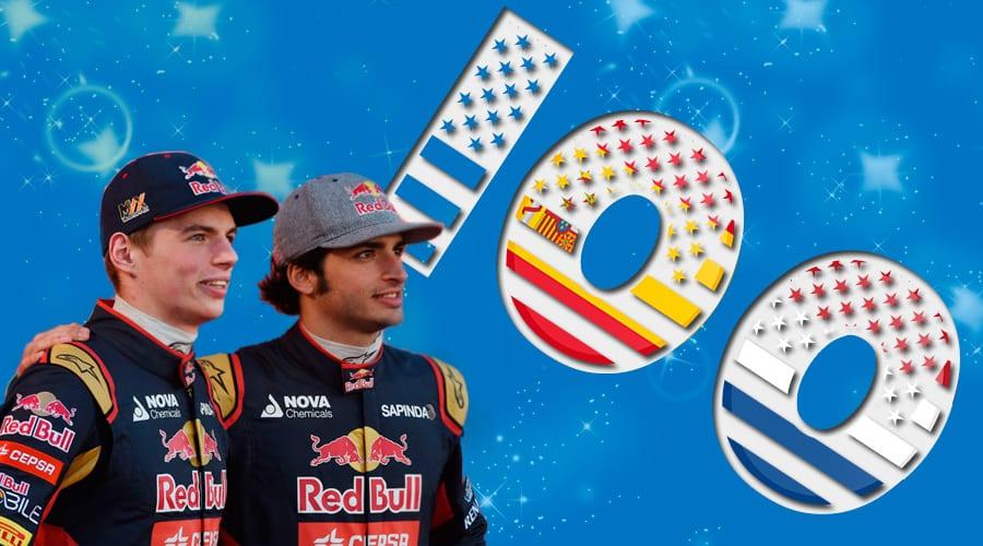 Carlos Sainz y Max Verstappen se hacen centenarios